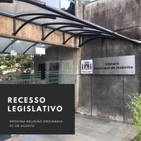 A Câmara de Itabirito entra em recesso parlamentar