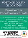 Câmara Municipal de Itabirito recolhe doações para desabrigados do Distrito de Bento Rodrigues e região