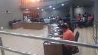 Vereadores se reuniram para a 11ª Sessão Ordinária no plenário da Câmara Municipal.